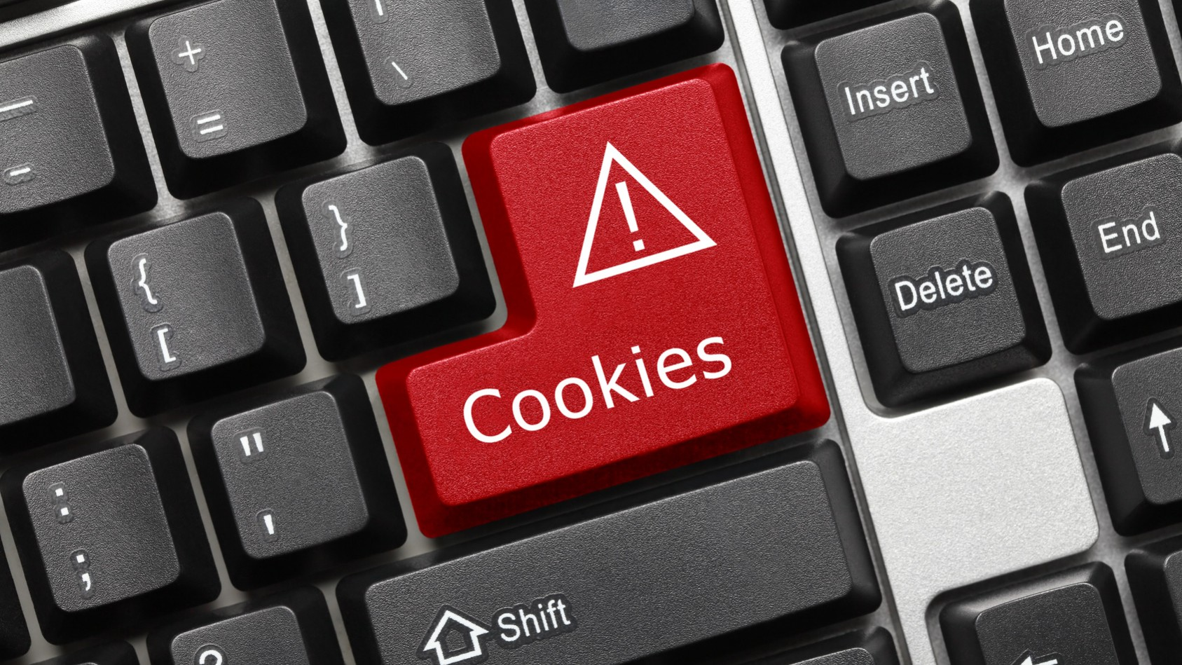 Conceptual keyboard – Cookies (red key)