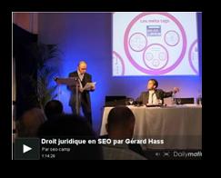 Conférence vidéo sur le droit juridique en SEO – SEO Campus 2012