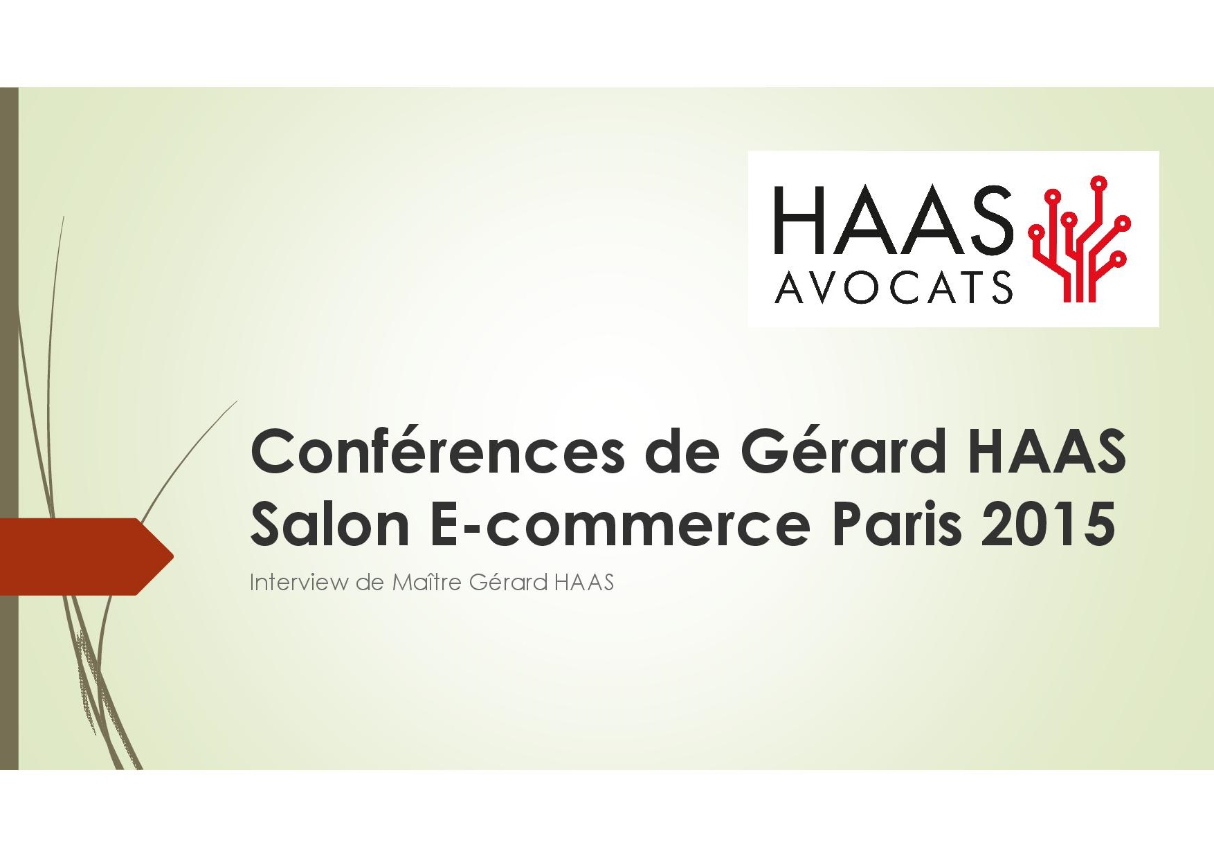 Conf rences de g rard haas salon e commerce paris 2015 for Salon des ce paris 2015