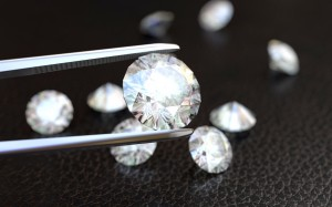 Jewelry tweezer and Diamonds