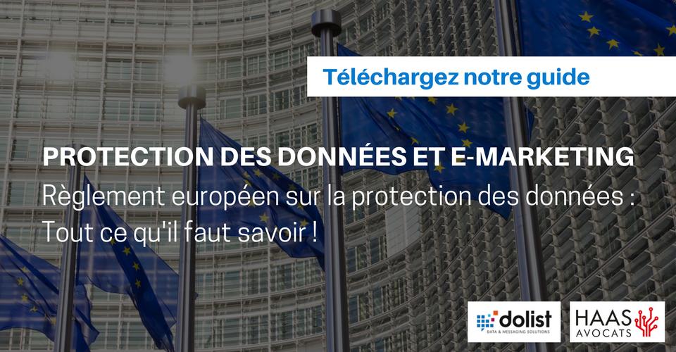RGPD : Reglement européen pour la protection des données - livre blanc