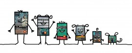 Cartoon robots – Family