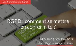 RGPD : comment se mettre en conformité ? 05 octobre 2017 propriété intellectuelle et nouvelles technologies home Avocat RGPD comment se mettre en conformite    250x150