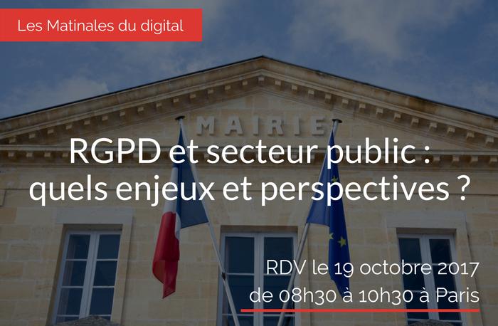 RGPD et secteur public