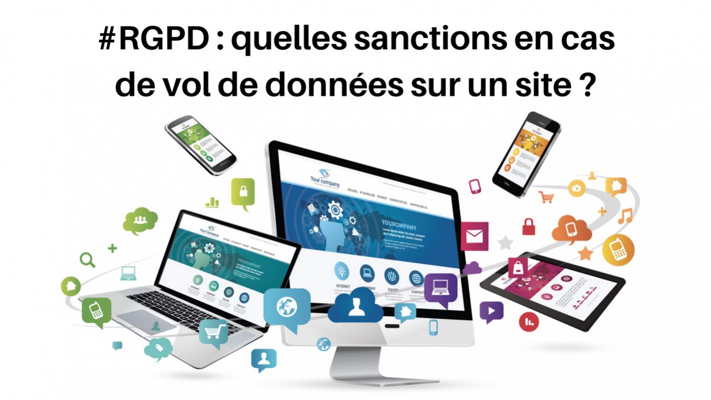 sanctions vol de donnees site web rgpd