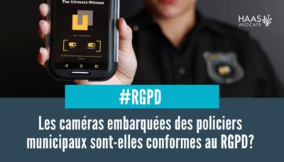 caméras embarquées des policiers municipaux